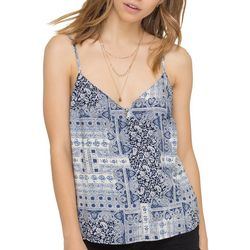 All In Favor Womens Patchwork Print Sleeveless Top