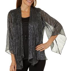Sara Michelle Womens Sparkle Textured Duet Top