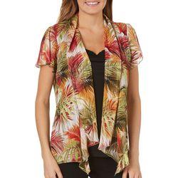 Sara Michelle Womens Palm Leaf Duet Top