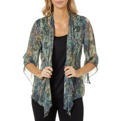 Sara Michelle Womens Mixed Animal Paisley Print Duet Top