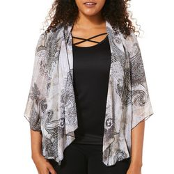 Sara Michelle Womens Paisley Lattice Cage Duet Top