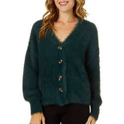 Willow & Clay Womens Textured Solid Long Sleeve Cardigan