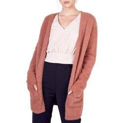 Do + Be Womens Solid Long Sleeve Cardigan