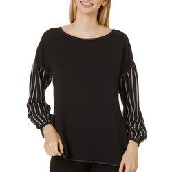 Chenault Womens Mixed Print Long Sleeve Top