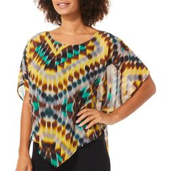 Chenault Womens Tie Dye Poncho Top