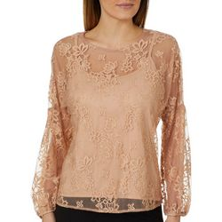 Chenault Womens Floral Lace Top