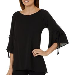 Chenault Womens Back Split Tie Sleeve Top