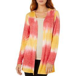 Lexington Ave Womens Tie Dye Long Sleeve Cardigan