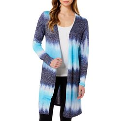 C'est La Vie Womens Ombre Stripe Long Sleeve Cardigan