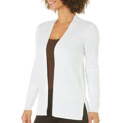 Cable & Gauge Womens Textured Side Split Cardigan