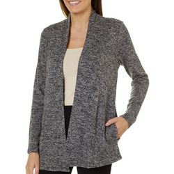 Cable & Gauge Womens Heathered Open Front Cardigan