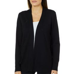 Cable & Gauge Womens Solid Textured Cardigan