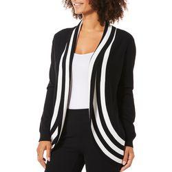 Cable & Gauge Womens Stripe Trim Cardigan