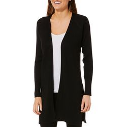 Cable & Gauge Womens Solid Ribbed Raglan Cardigan