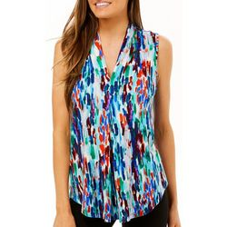 Cable & Gauge Womens Watercolor Print Sleeveless Top