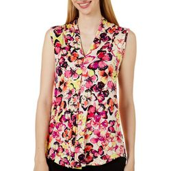 Cable & Gauge Womens Butterfly Print Sleeveless Top