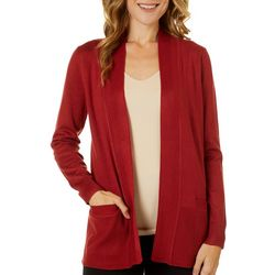 Cable & Gauge Womens Solid Open Front Cardigan