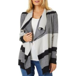Cable & Gauge Womens Cozy Mixed Stripe Cardigan