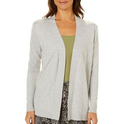 Cable & Gauge Womens Textured Open Front Cardigan