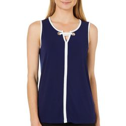 Cable & Gauge Womens Grommet Bar Sleeveless Top