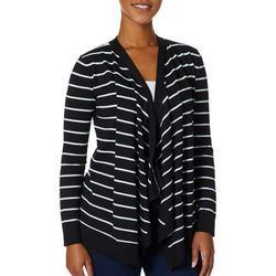 Cable & Gauge Womens Striped Waterfall Cardigan