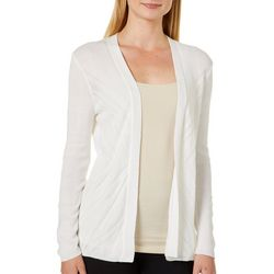 Cable & Gauge Womens Solid Pointelle Cardigan