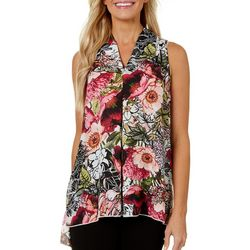 Spense Womens Blooming Floral High-Low Top