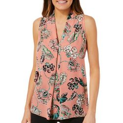 Spense Womens Floral Paisley Sleeveless Top