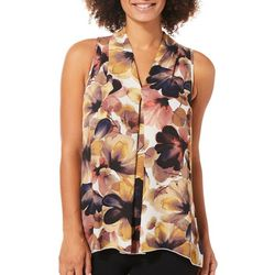 Spense Womens Bold Floral High-Low Top