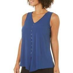 Spense Womens Button Panel Sleeveless Top