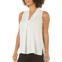 Spense Womens Pearl Chain Sleeveless Top