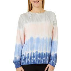 Como Blu Womens Tie Dye Long Sleeve Top