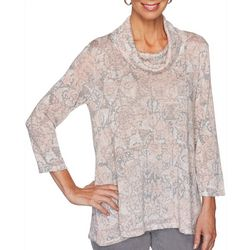Ruby Road Favorites Womens Cowl Neck Top