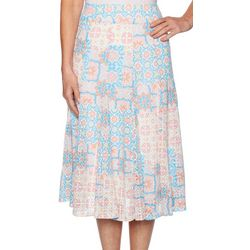Ruby Road Favorites Womens Tile Print Maxi Skirt
