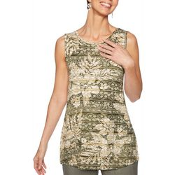 Ruby Road Favorites Womens Mixed Print Sleeveless Top