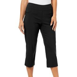 Ruby Road Favorites Womens Solid Pull On Capris