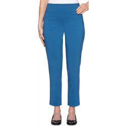 Ruby Road Favorites Womens Millenium Tech Solid Ankle Pants