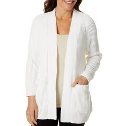 Ruby Road Favorites Womens Luster Chenille Cardigan