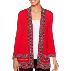 Ruby Road Favorites Womens Open Front Cardigan