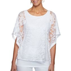 Ruby Road Favorites Womens Capo Bianco Paisley Popover Top