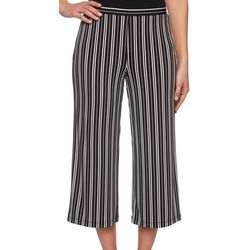 Ruby Road Favorites Womens Pin Stripe Gaucho Pants