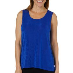 Ruby Road Favorites Womens Solid Sleeveless Top