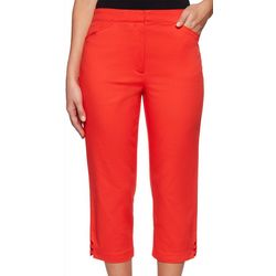 Ruby Road Favorites Womens Riviera Refresh Solid Capris