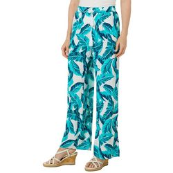 Ruby Road Favorites Womens Palm Print Pull On Pants