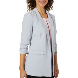 Philosophy Womens Ruched Sleeve Open Front Jacket
