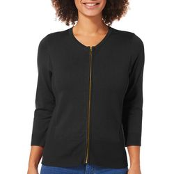 Premise Womens Heathered Zip Front Cardigan
