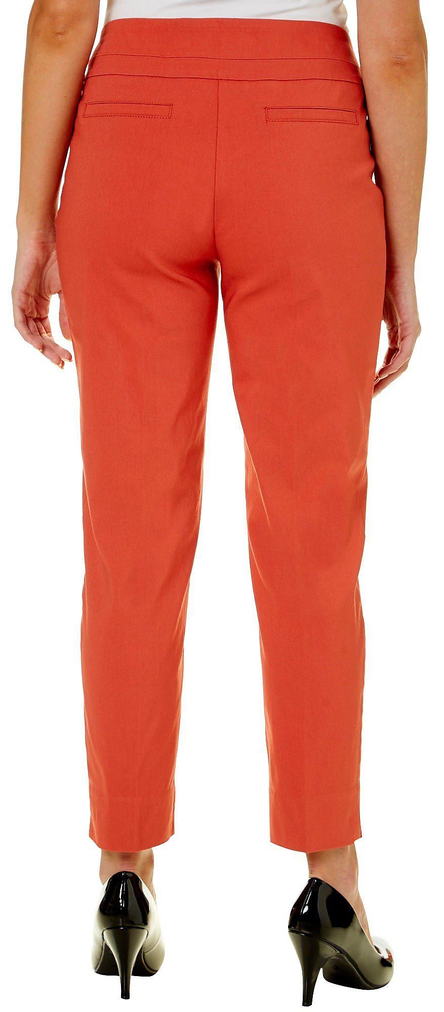 6347d93abc53f Zac   Rachel Womens Solid Pull On Millennium Pants