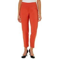 Zac & Rachel Womens Solid Pull On Millennium Pants
