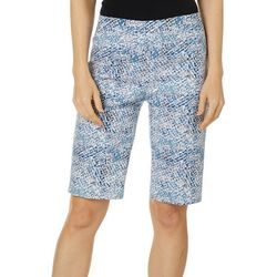 Zac & Rachel Womens Abstract Millennium Bermuda Shorts
