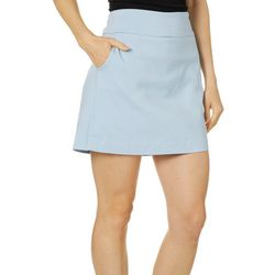 Zac & Rachel Womens Solid Pull On Skort